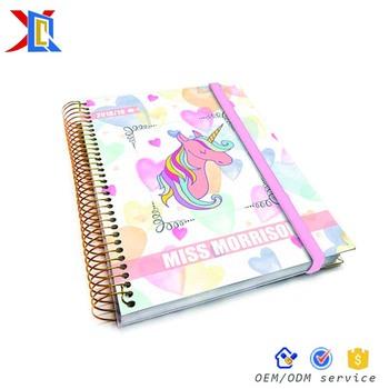 Custom Elastic Closure Wedding Planner Note Book Organizer