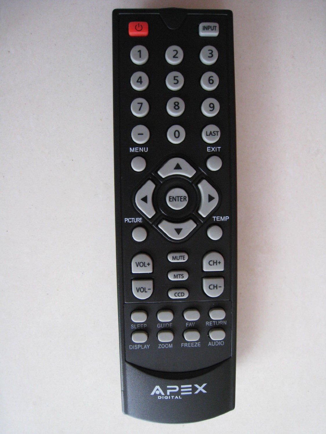 Brand new APEX Remote control for LE1912 LD2D8RM LE1912D LE2412 LE2412D LE3212D LCD LED TV and almost all 2012 2013 2014 32'' inch and below 32 inch APEX LCD LED TV