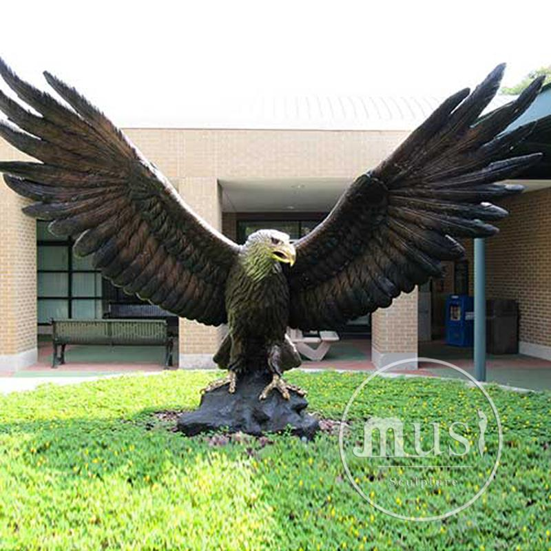 Grote Outdoor Koper Sculpturen Bronzen Big Eagle Standbeelden