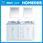 classic wooden bathroom cabinet white with blum hardware
