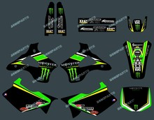 ENERGY BLACK DST0221TEAM GRAPHICS & BACKGROUNDS DECALS STICKERS Kits for KAWASAKI KX125 KX250 1994 1995 1996 1997 1998