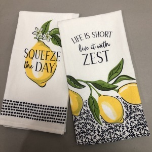 custom screen print kitchen cloths towel