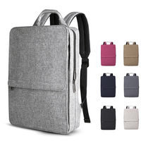 Grey anti thief backpack waterproof durable charging USB backpack