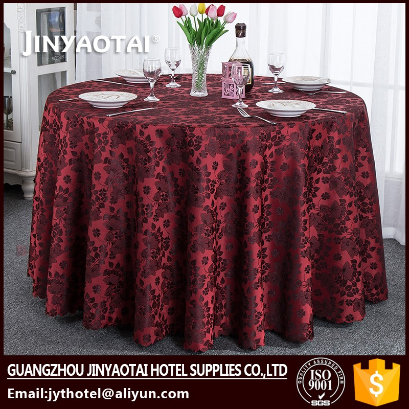 Polyester / Cotton 5 star Crocheted party tablecloth table covers christmas