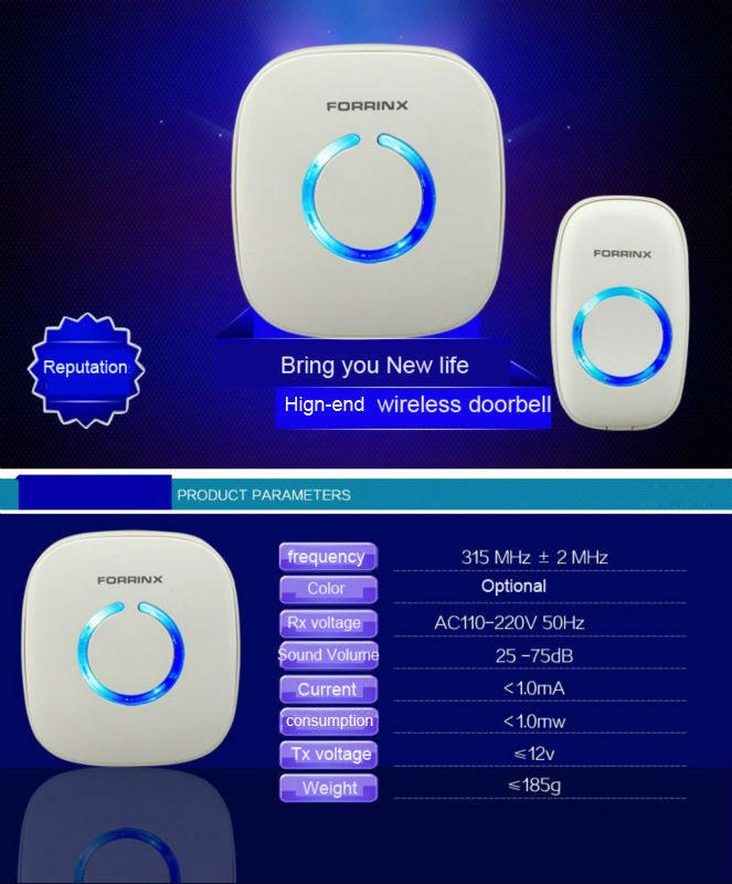 Forrinx welcome to the electronic wireless doorbell welcome voice receiving device for the home/ office