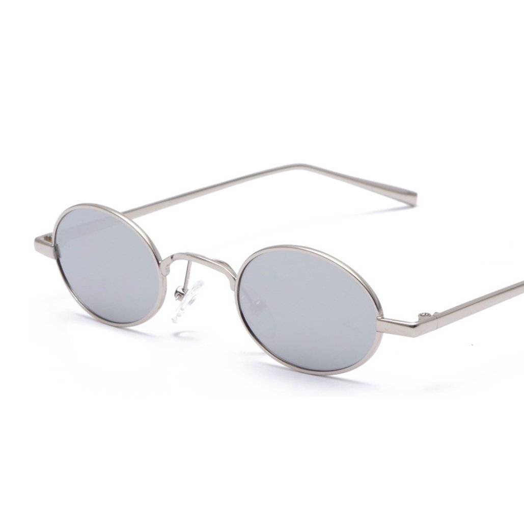 CUIYAN Retro Personality Square Sunglasses Europe and America Color Glasses New Metal Sunglasses (Color : 5)