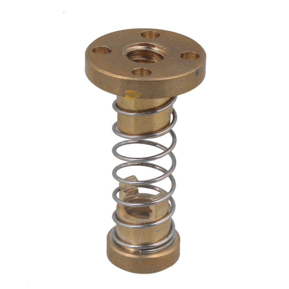 CNBTR T8 Anti Backlash Spring Loaded Nut Elimination Gap Nut DIY CNC 3D Printer Parts for 2mm Threaded Rod Lead Screw