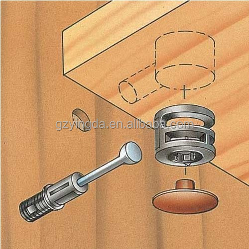 Furniture Screws Fiting Cap Nuts Connecting Bolts Cabinet ...