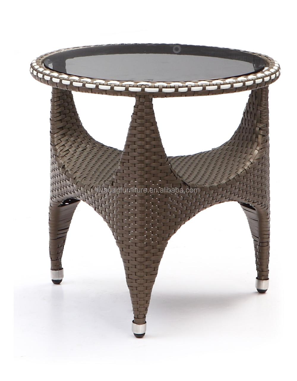 Small Round Rattan Table Latest Design Outdoor Rattan Garden Furniture Modern Small Round
