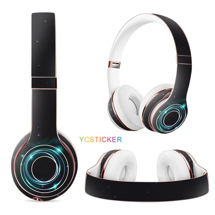 Headphones Cool designs removable headset beats solo wireless decals earphones 3M vinyl earpiece stickers skins