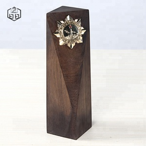 New Design Carved Unique Wooden Blocks Military Awards