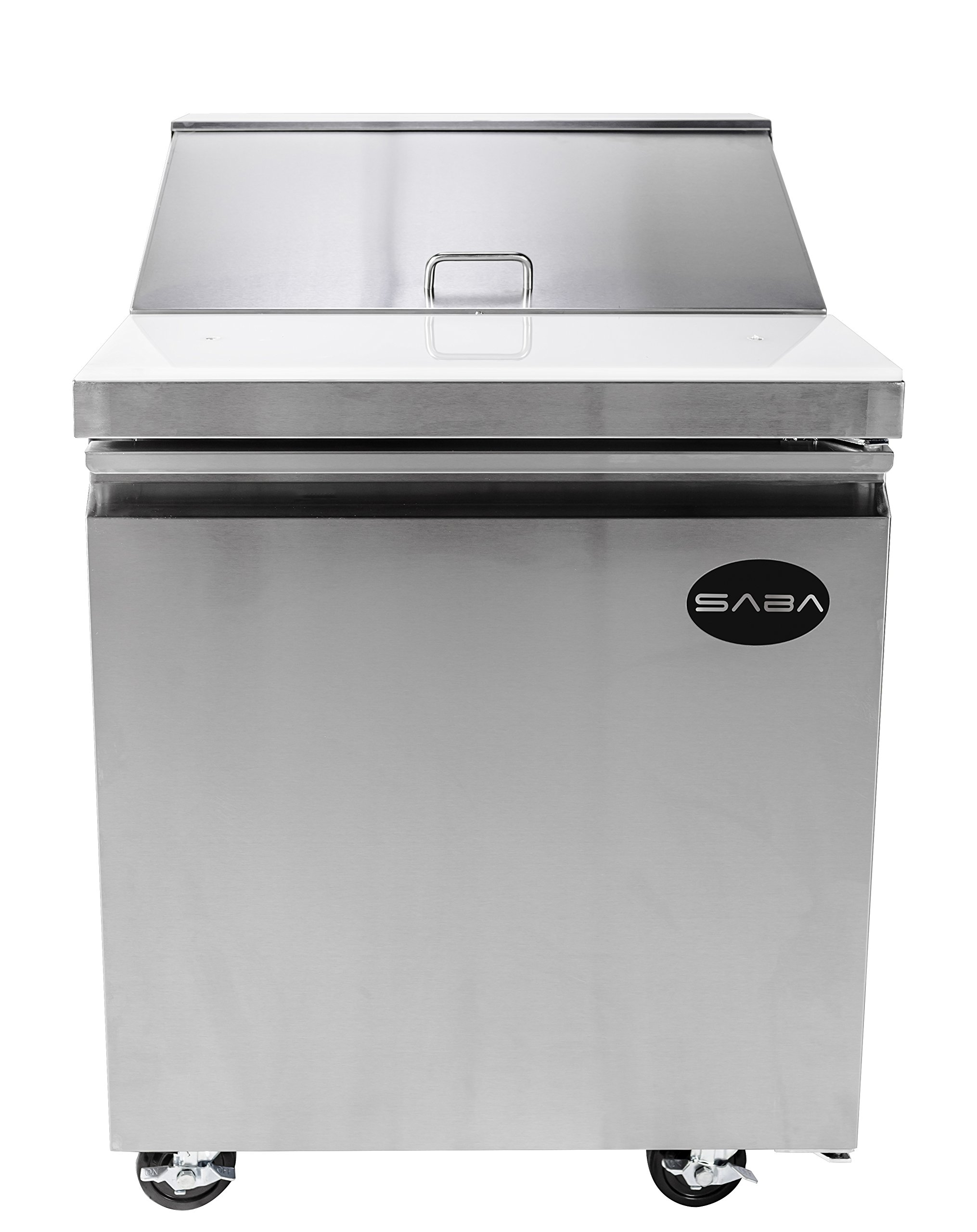 "Heavy Duty Commercial Sandwich Salad Prep Table Refrigerator Cooler 1 Door 27"""