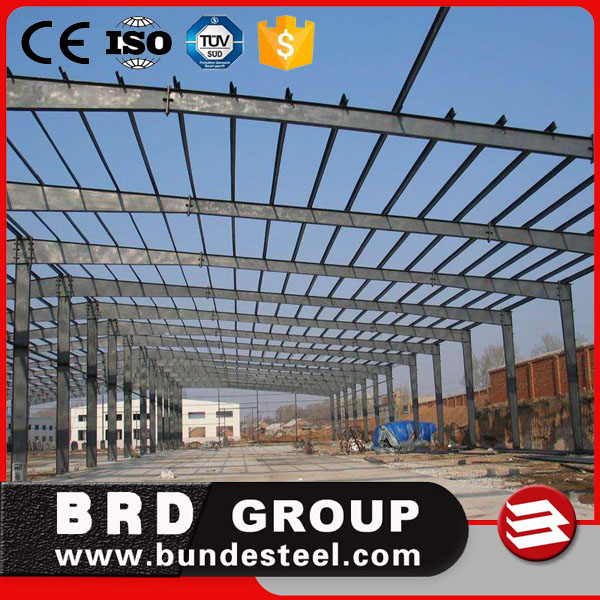 Prefab light steel factory/workshop building used steel structure