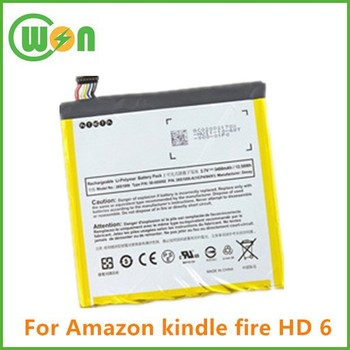 Replacement 3400mah 26s1006,26s1006a,58-000092 Battery For Amazon Kindle  Fire Hd 6