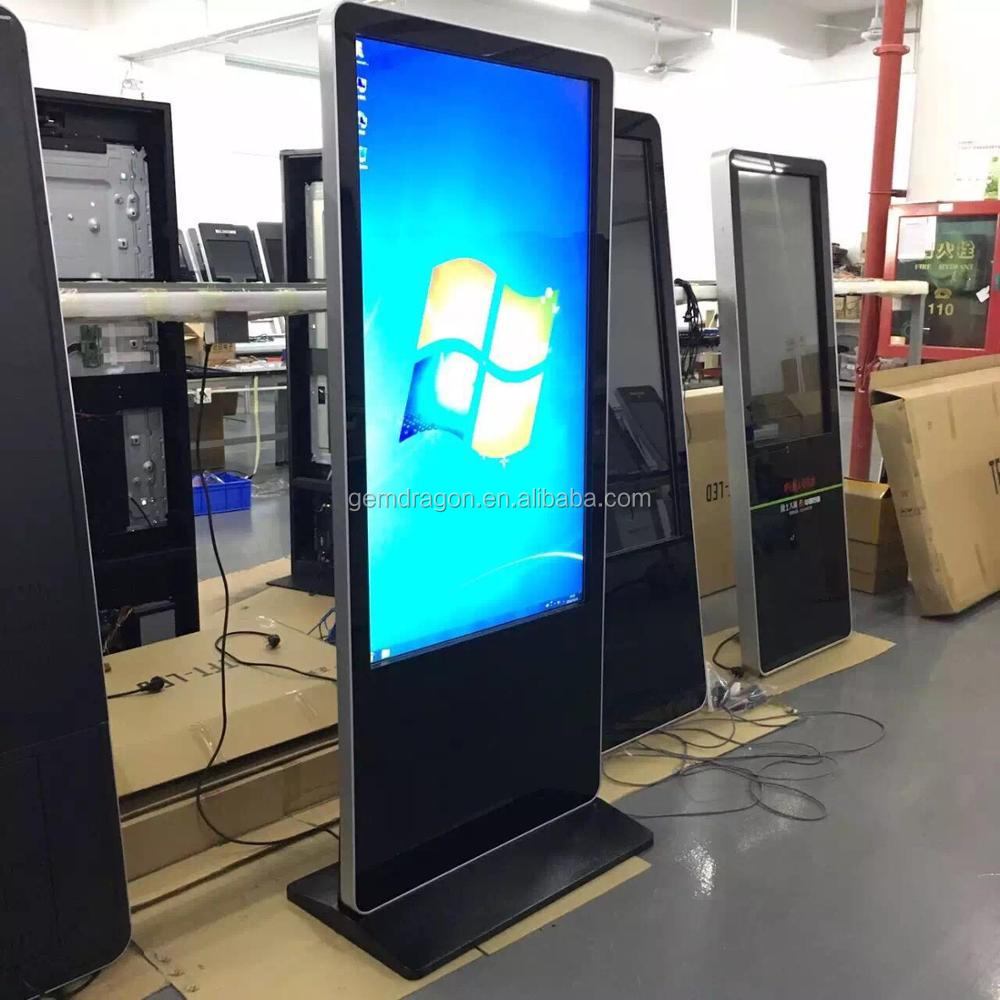 Economic and Reliable AD Player advertising New kiosk Ultrathin 2 CM Thickness Digital signage with lcd screen
