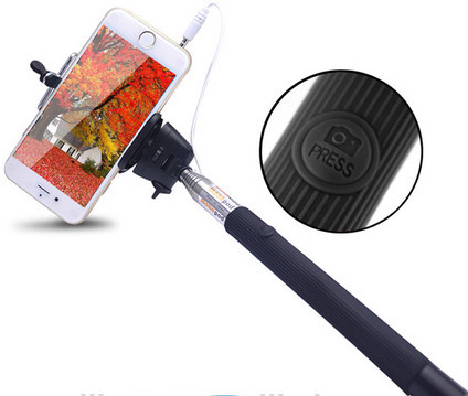 Z07-7 Wired Selfie Stick Handheld Extendable Monopod