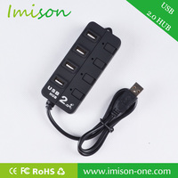 High speed portable mini usb 2.0 4-port hub