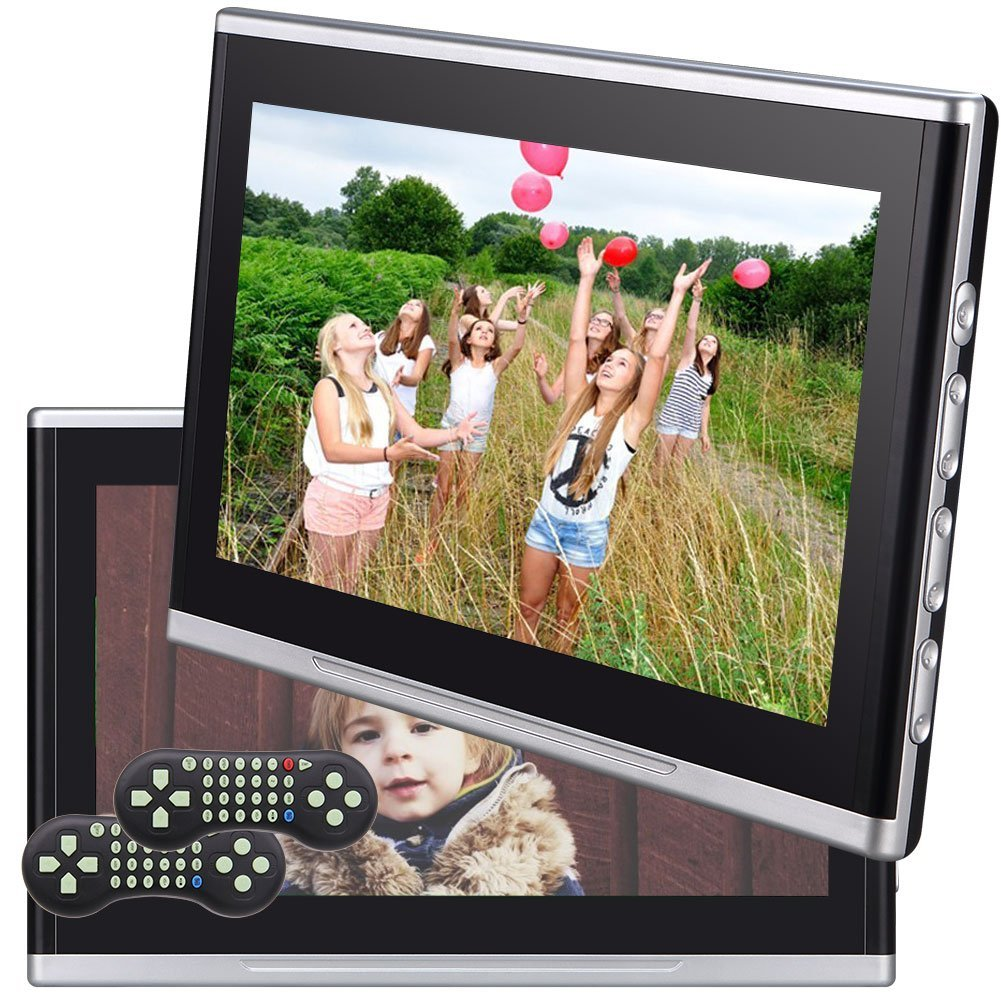 "Dual Car DVD Player EinCar 10.1"" Ultra Thin Digital HD Headrest DVD Player Car Multimedia TFT LCD Screen Display DVD Player Headrest Monitor with HDMI Port and Remote Control"