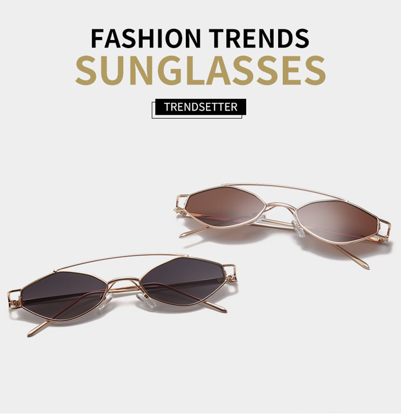 2019 Fashion smart oval metal frame stock goods sunglasses women with CE FDA UV400