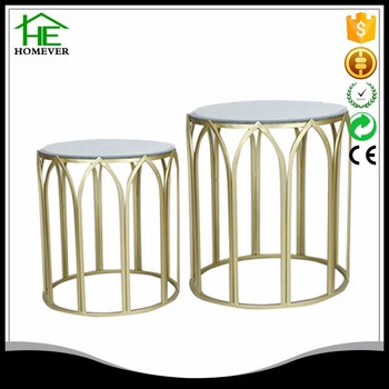 Round Glass Top Gold Metal Craft Center Coffee Table Buy Gold