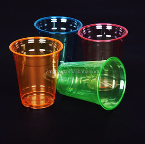Colorful PET plastic cup with dome lid