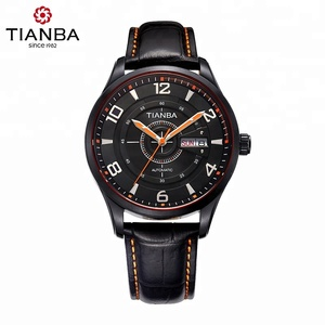 High quality charming Genuine Leather Automatic Men watch