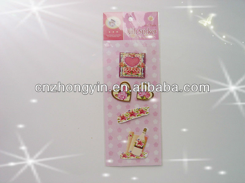 3D Self Adhesive Hand-made Paper Sticker