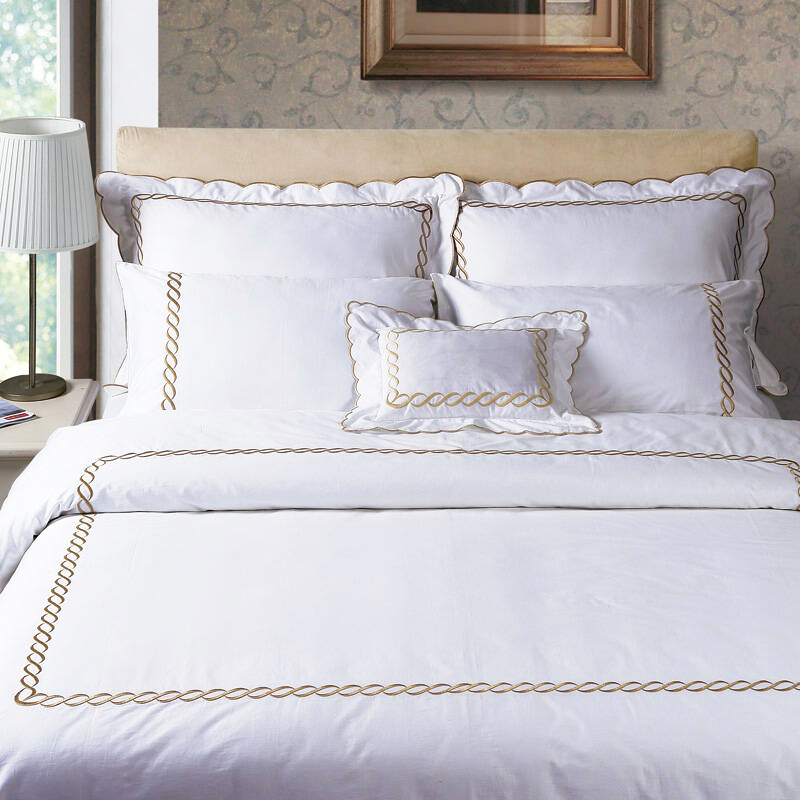 JR573 Embroidered Design Five Star Hotel Quality Egyptian Cotton Duvet Cover