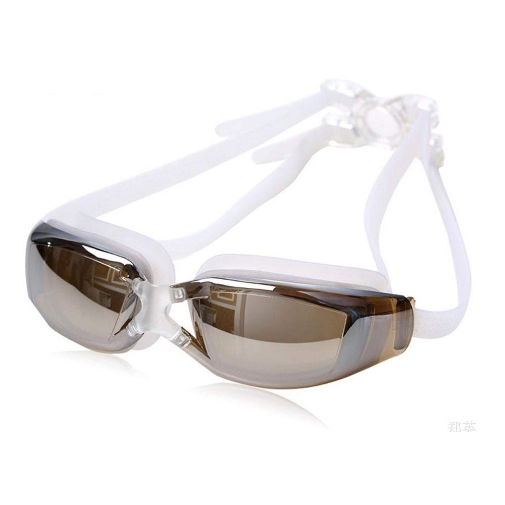 ee9a2dc28550 Get Quotations · Aolvo Swim Goggles HD Plating Anti-fog Comfortable  Waterproof UV 400 Protection Leak-Proof