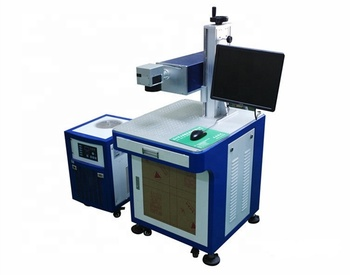 Glass/Plastic 355nm 3w 5w 10w UV Laser Marking With Machine Protection Cover For Sale