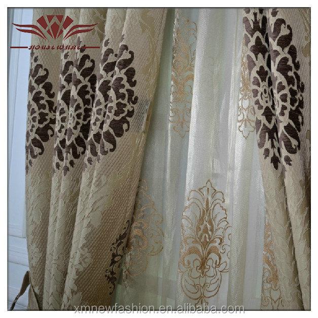 High Quality Por Hot Curtain Fabric Window Treatments Laser Cut
