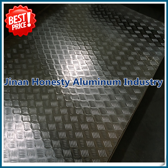 Anti Slip Aluminum Diamond Checker Tread Plate Sheets 5