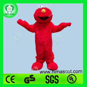 HI CE Custom fur costume elmo mascot costume adult,movie character animal mascot costume