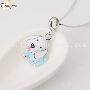 2018 new design hot selling DIY cute dog pendant 925 sterling silver necklace accessories