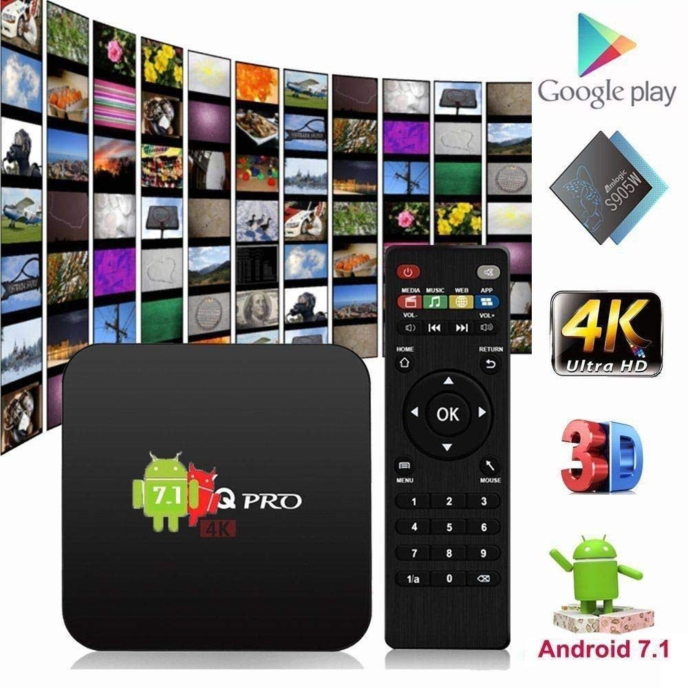 Mocei Mxqpro 4K Smart TV Box Android 7.1 1G 8G HD Quad-core WiFi Amlogic S905W A3F0E