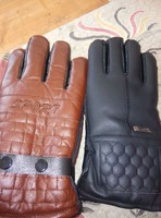 Coral fleece gloves/leather gloves