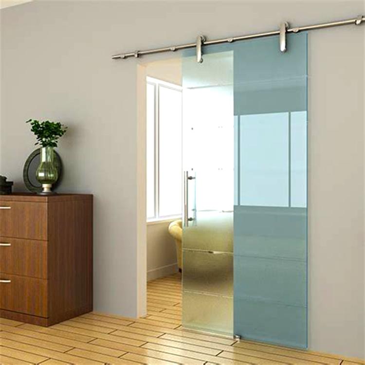 Modern Interior Frameless Glass Stainless Barn Sliding Doors Buy