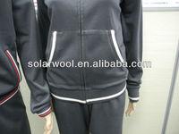 100% Merino Wool tracksuit coat