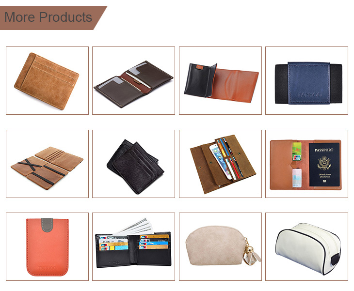 Tianhooo RFID Blocking Minimalist Genuine Leather Slim Front Pocket Wallet