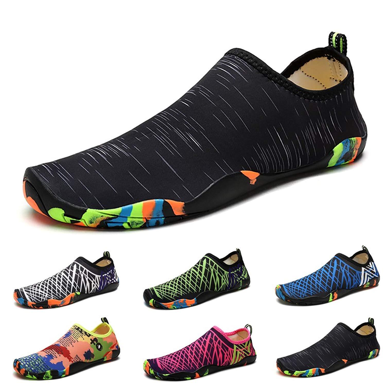 1acb7bfb3990 Get Quotations · Easondea Unisex Water Shoes Barefoot Skin Shoes Quick-Dry  Aqua Socks Pool Shoes Mens Womens