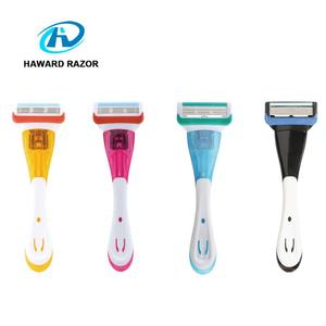 D956L 2017 New arrival five stainless steel blades ladies razor system