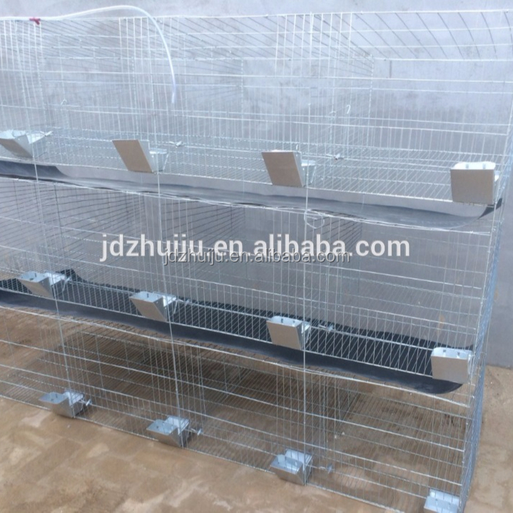 Used galvanized wire rabbit cages for sale by direct manufacturer