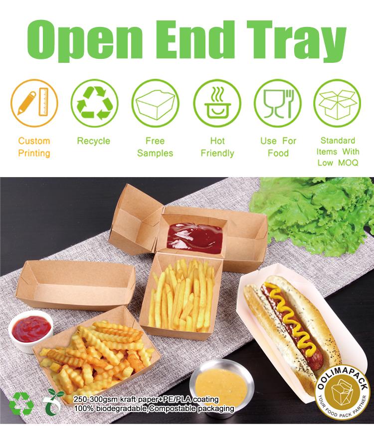 Mcdonald'ın boyutları burger kutusu, hot dog karton ambalaj kutusu