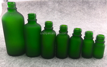 50ml liquor bottle wholesale frosted green glass bottle packaging for essential oil bottle