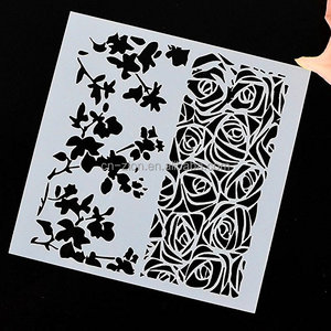 13*13cm size DIY Drawing stencil Plastic PET material spray painting template