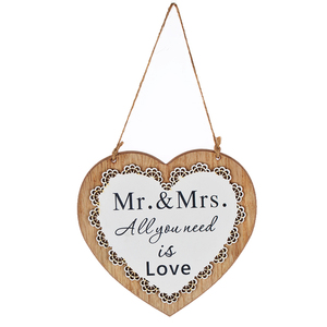 Wedding Favors Gifts Wooden White Heart Door Wall Hanging Wedding Party Decoration Centerpieces