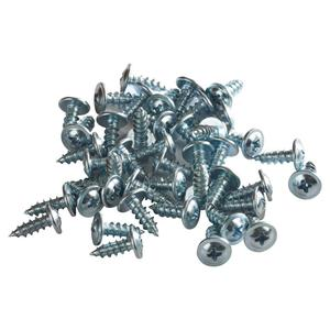 "#8 x 1/2"" Standard Thread Wafer Head Galvanized Self Tapping Screws"