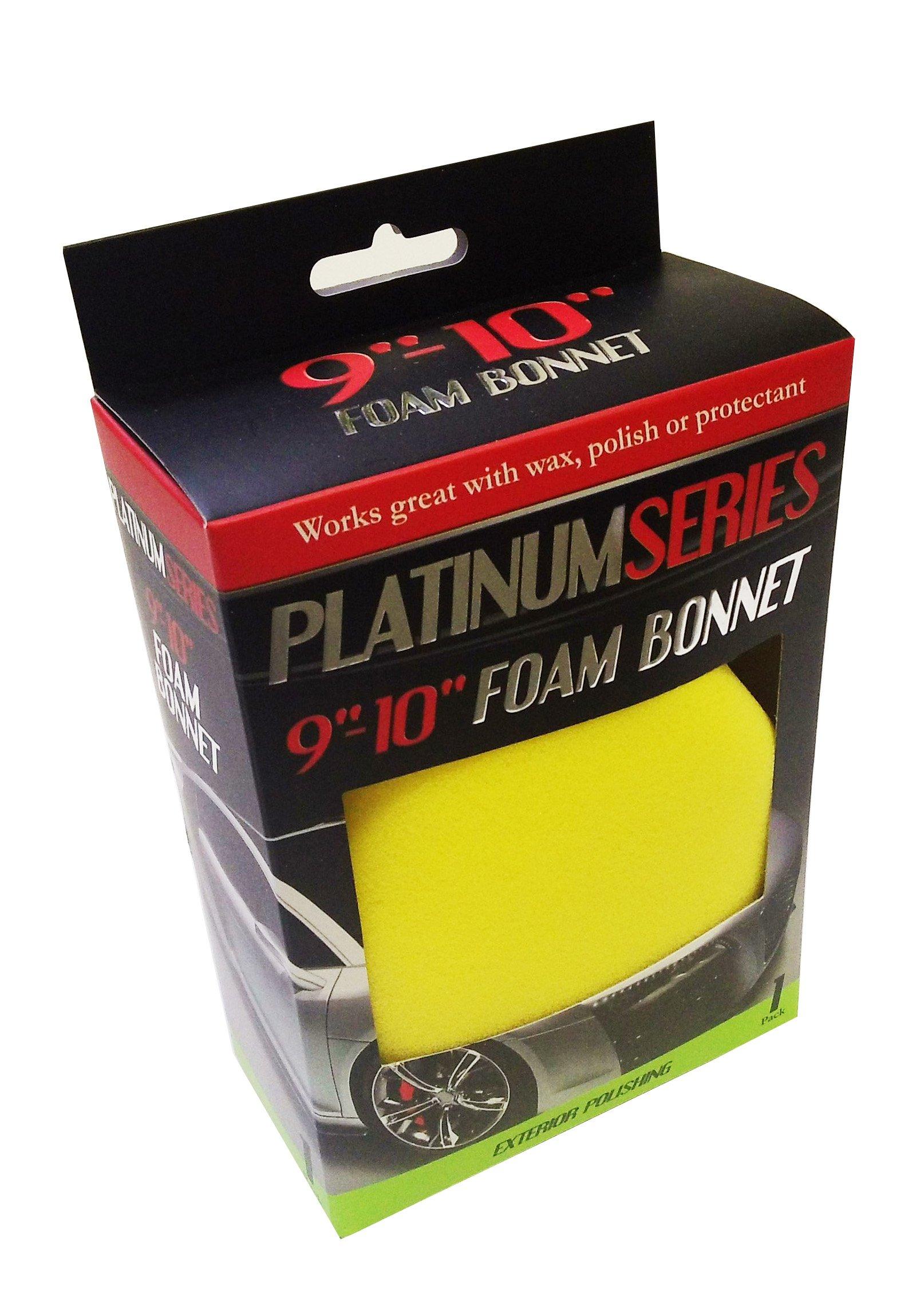 "Microtex R-878100 Platinum Red 9"" - 10"" Foam Bonnet"