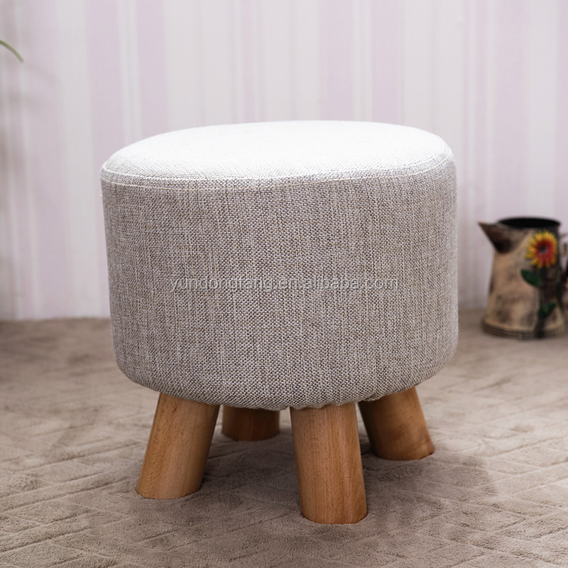 wholesale home furniture new design cheap fabric round footstool child small wood stool & Wholesale Home Furniture New Design Cheap Fabric Round Footstool ... islam-shia.org