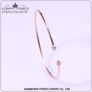 2016 trending products sexy women 925 sterling silver bangle with zircon